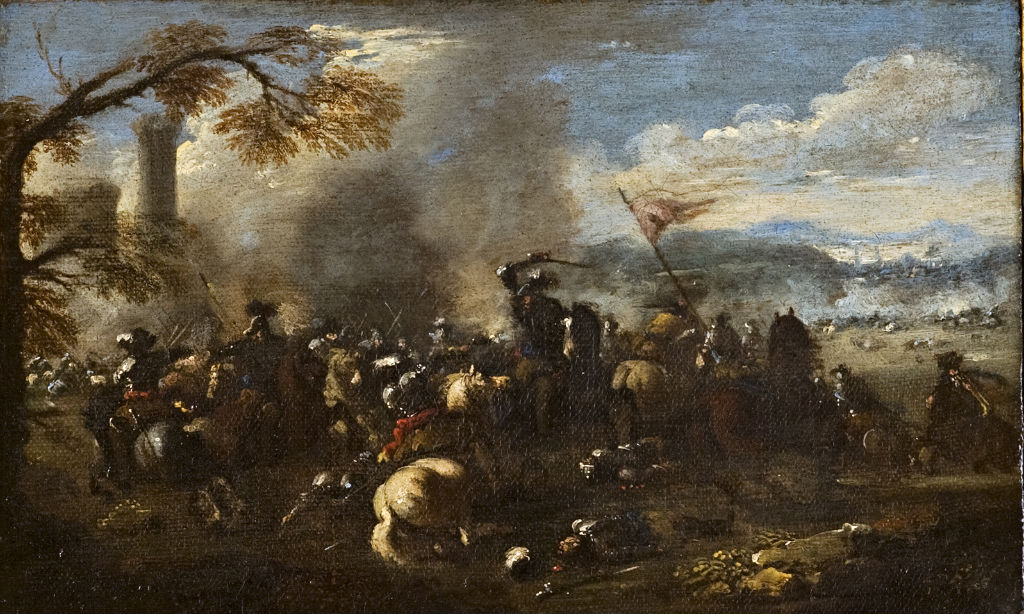 A Battle Scene, Attributed to Jacques Courtois, (1621-1676).