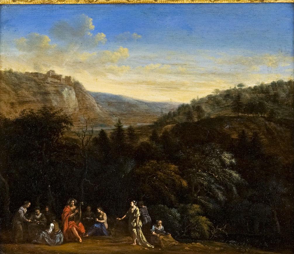 Orpheus in a Landscape, Italo-Flemish School, 2nd half 17th Century.