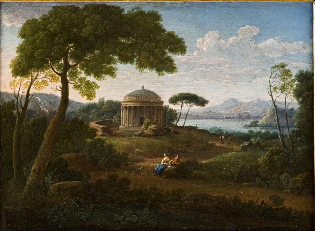A Classical Landscape, Hendrik van Lint, called Lo Studio, (1684-1763).