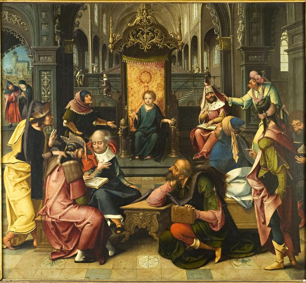 Christ Disputing with the Doctors, Bernard van Orley (c.1490-1541).