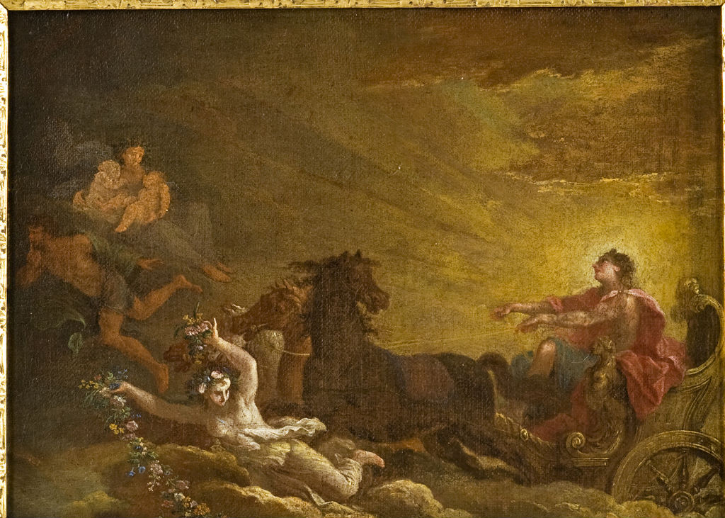Apollo in his Chariot, Filippo Lauri (1623-1694).