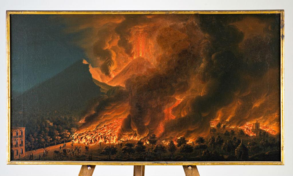 The Eruption of Vesuvius, 1767, Pietro Fabris (active 1740-1792).
