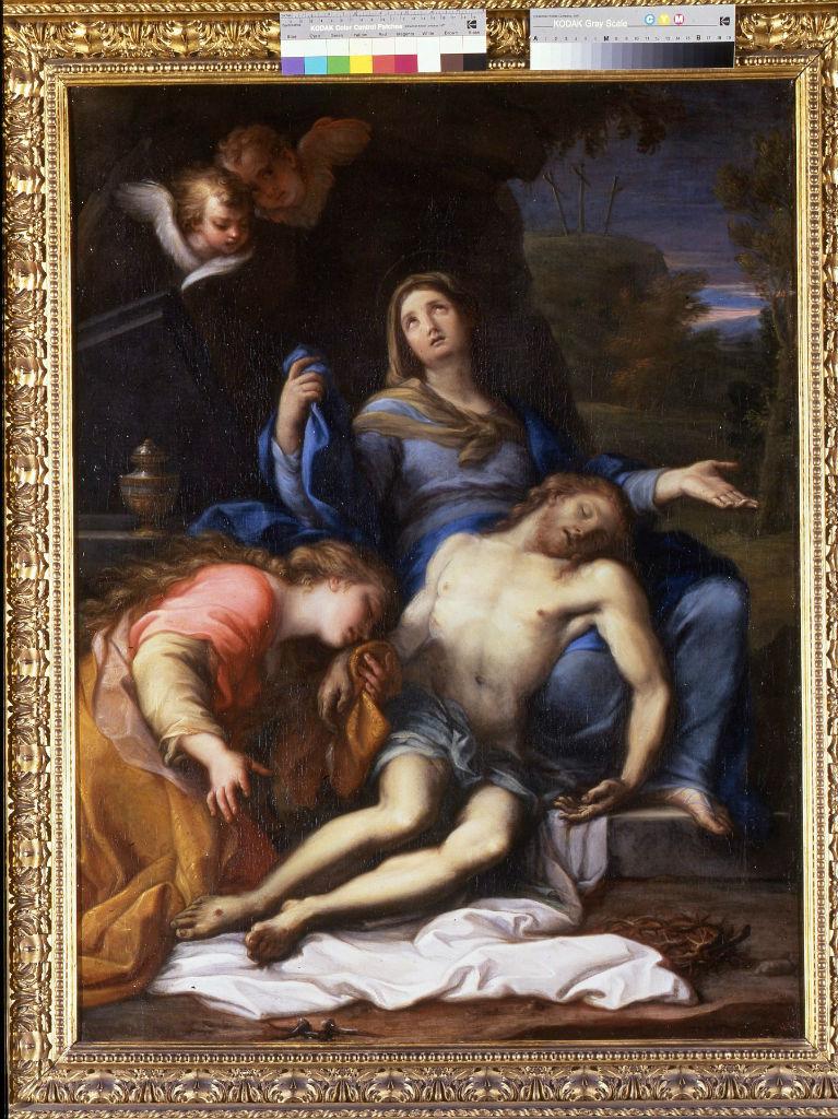The Virgin and Magdalene Mourning the Dead Christ, Giuseppe Bartolemeo Chiari (1654-1727).