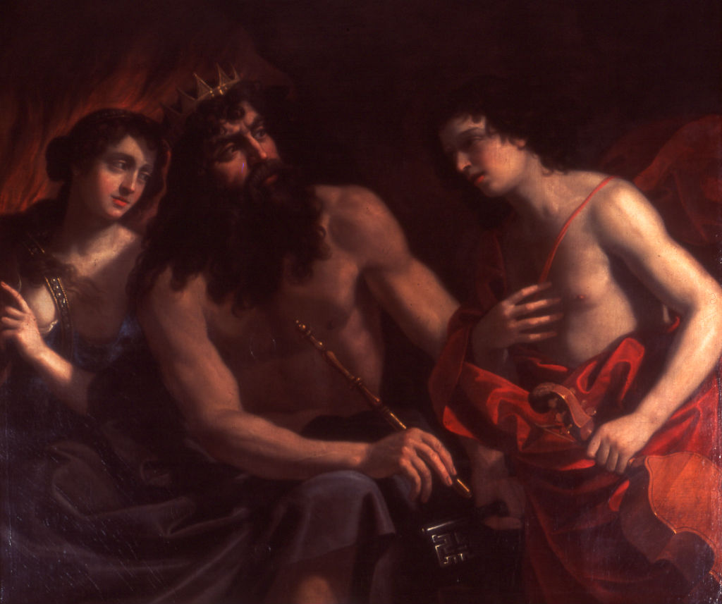 Pluto, Orpheus and Eurydice, Benedetto Gennari (1633-1715).
