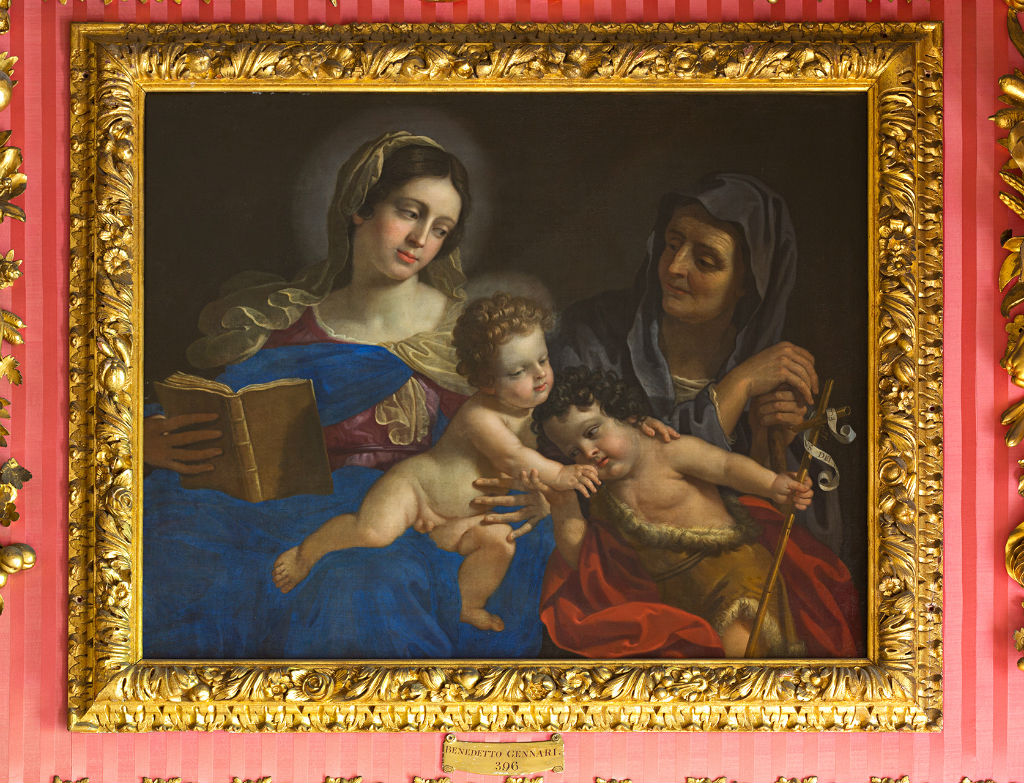 The Virgin and Child, the Infant Baptist and Saint Anne, Benedetto Gennari (1633-1715).