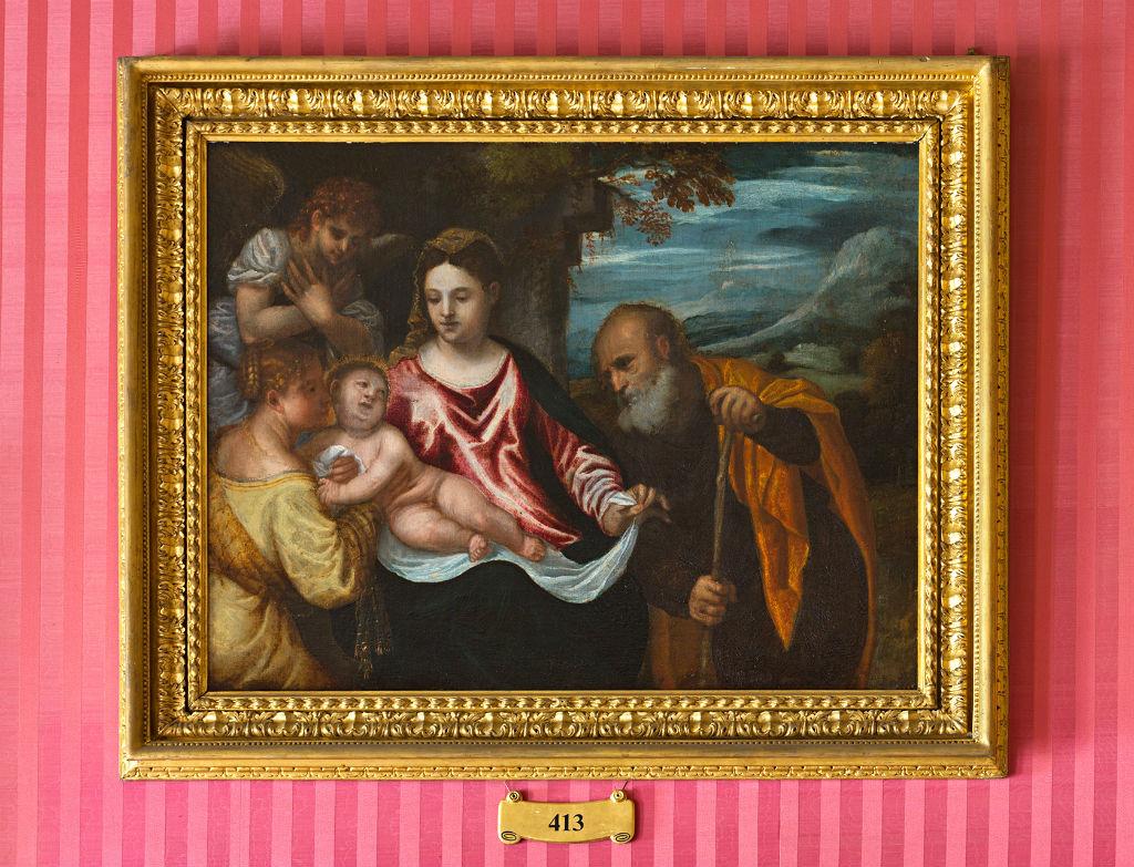 The Mystic Marriage of Saint Catherine, Polidoro da Lanciano (1515-1585).
