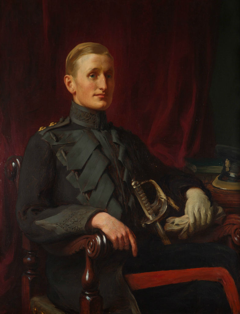 Portrait of David, 6th Marquess of Exeter (when Lord Burghley), Attributed to Sir Francis Owen Salisbury, R.A. (1874-1962).