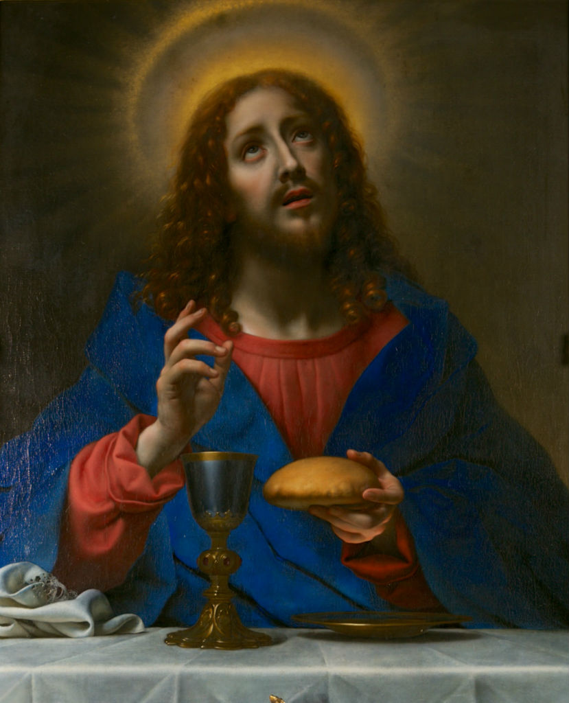Our Saviour Blessing the Bread and Wine, Carlo Dolci (1616-1687).