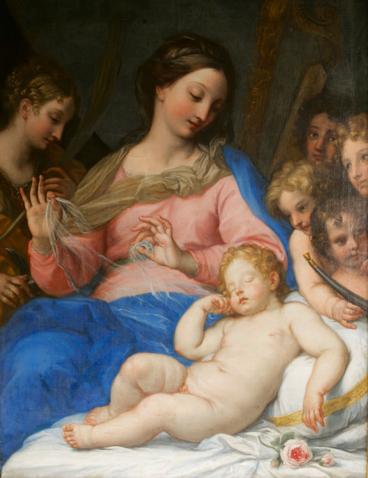 The Virgin with the Infant Christ Asleep by Carlo Maratta (1625-1713).