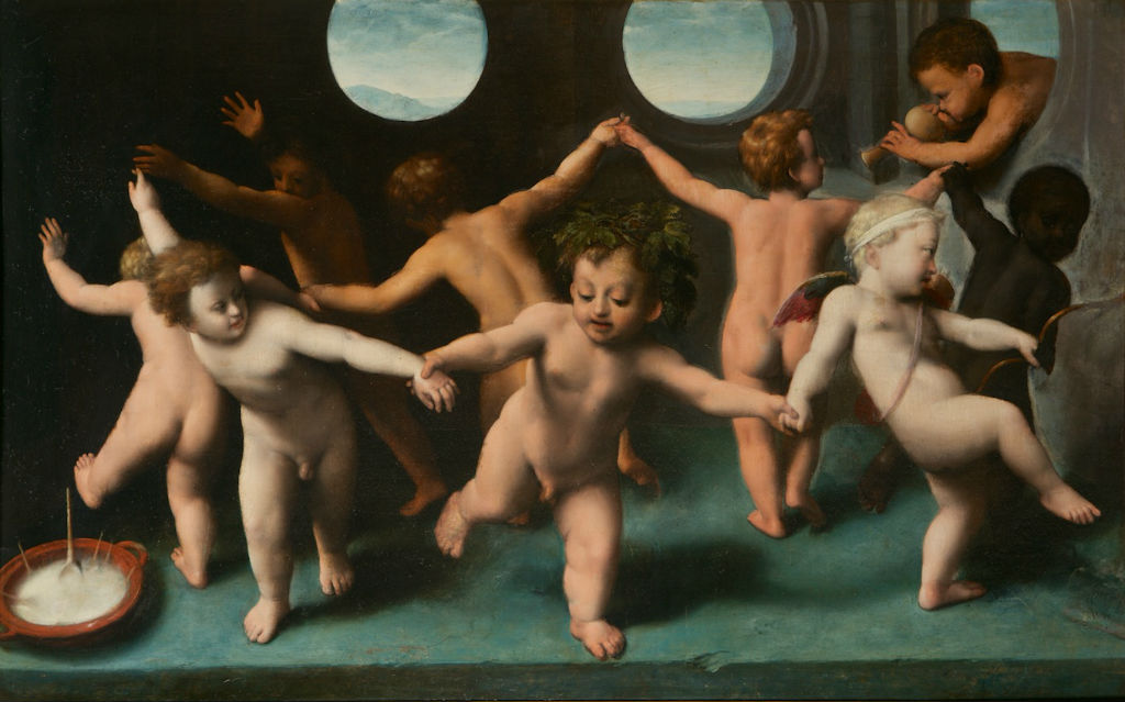 The Infant Bacchus, Cupid and Putti, Italian School, mid-16th Century.