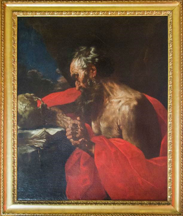 St Jerome by Flaminio Torre (1620-1661).