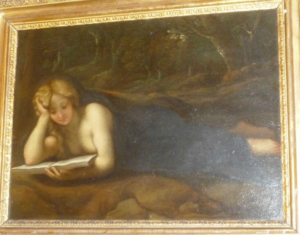 The Magdalene reading in the Wilderness after Antonio Allegri, Il Correggio (1489-1534).