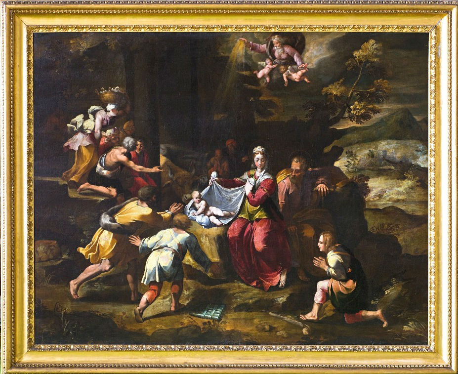 The Adoration of the Shepherds, Central Italian School, late 16th Century, after Polidoro da Caravaggio.