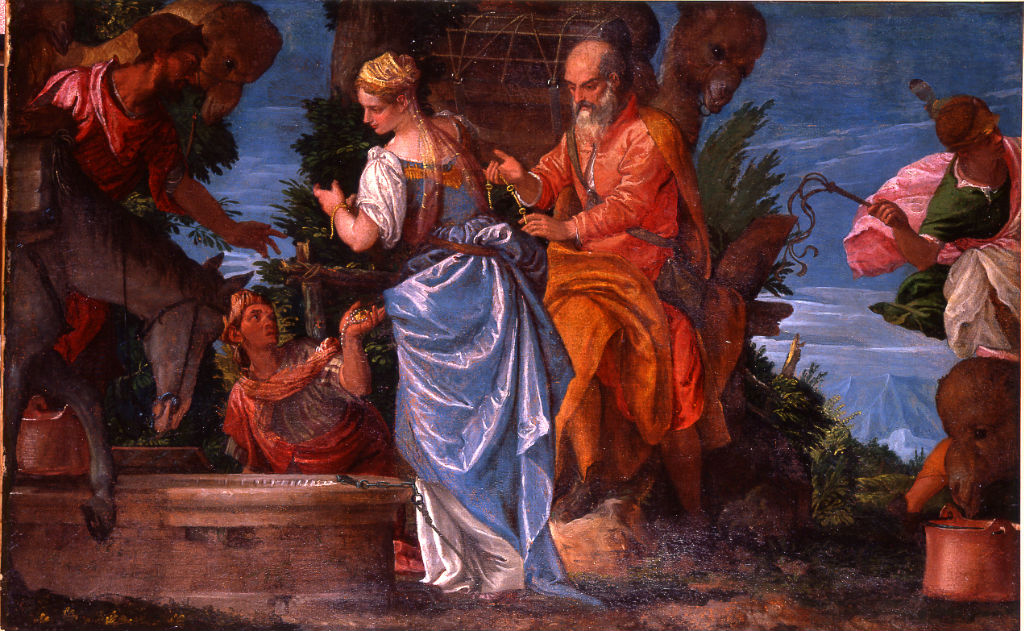 Eliezer and Rebecca at the Well, Attributed to Paolo Caliari, called Il Veronese (1528-1588) and Studio.