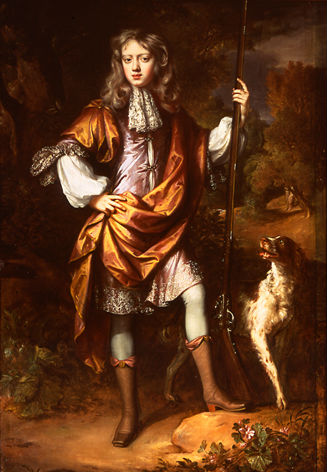 John, later 6th Earl of Exeter, when a boy, (1674-1721) by William Wissing (1656-1687).