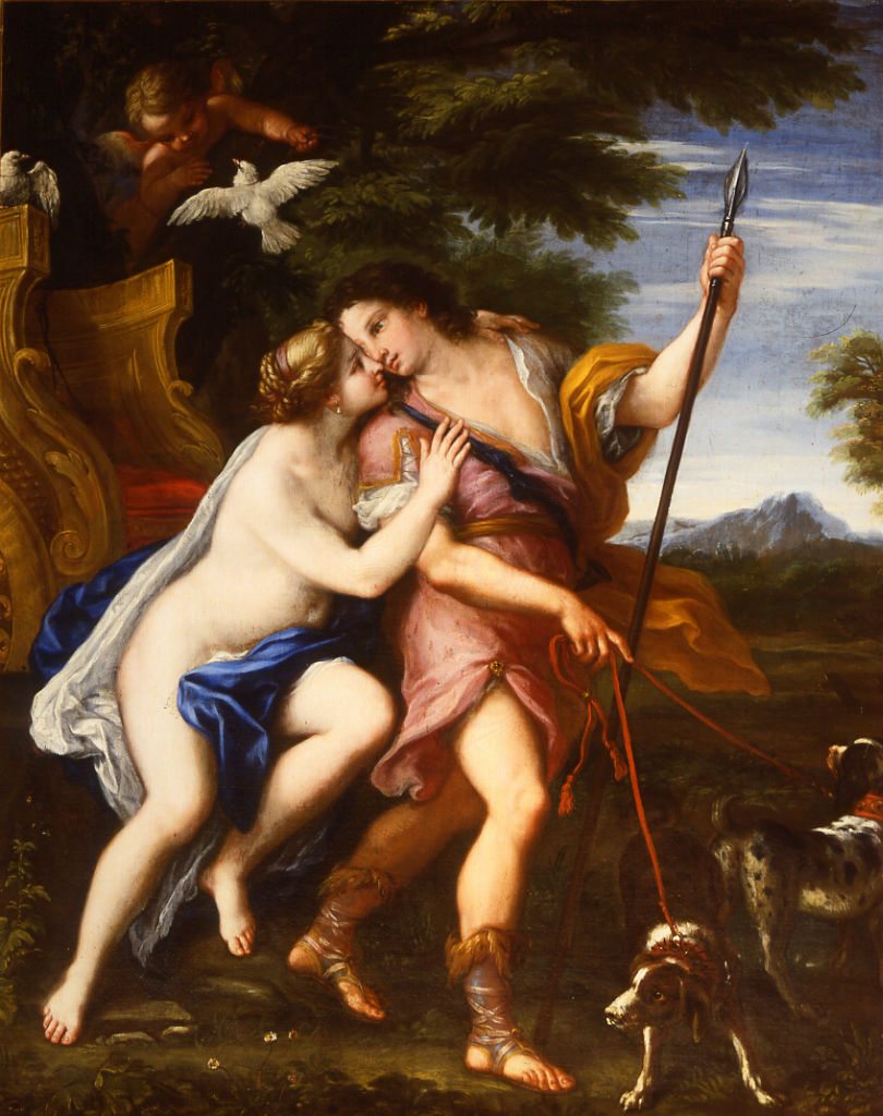 Venus and Adonis by Giacinto Calandrucci (1646-1707).