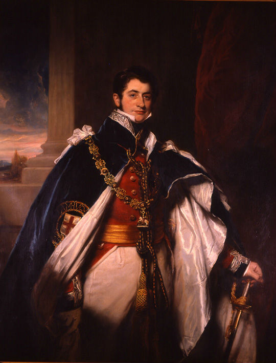 Brownlow, 2nd Marquess of Exeter, K.G. (1795-1867) by Sir Martin Archer Shee, P.R.A. (1769-1850).