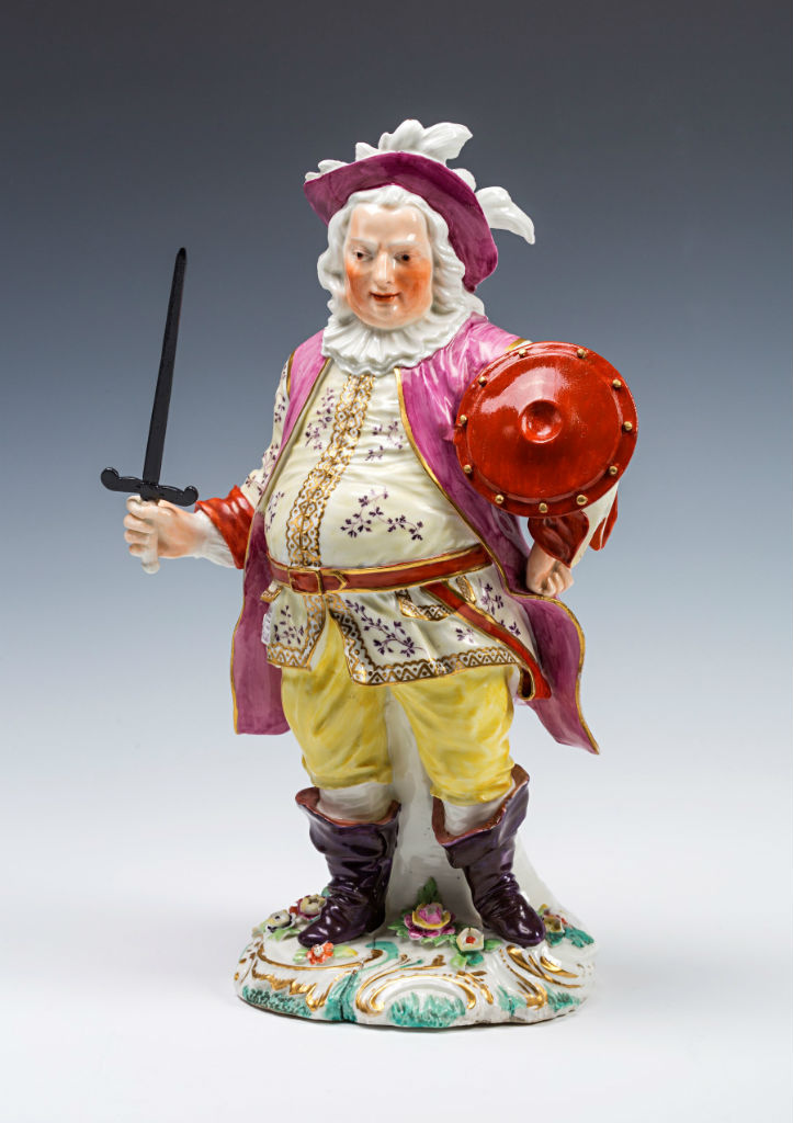 A Derby figure of the actor James Quinn in the role of Falstaff, circa 1765/70.