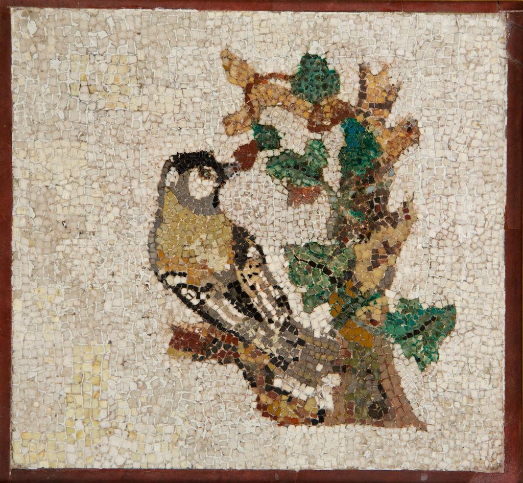 A small mosaic panel.