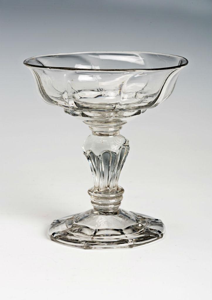 A sweetmeat glass, circa 1730.