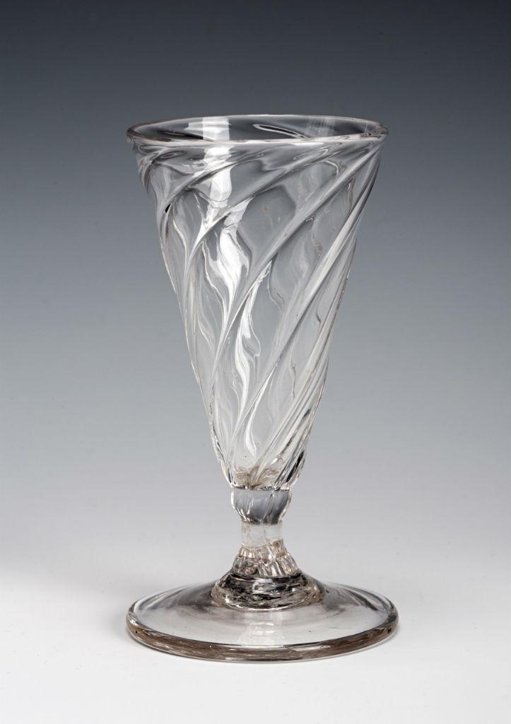 A dwarf ale glass, circa 1780.