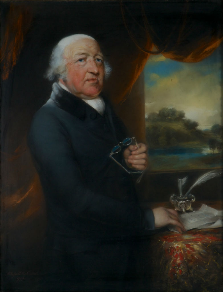 Rev. Francis Willis M.D. by John Russell, R.A. (1745-1806).