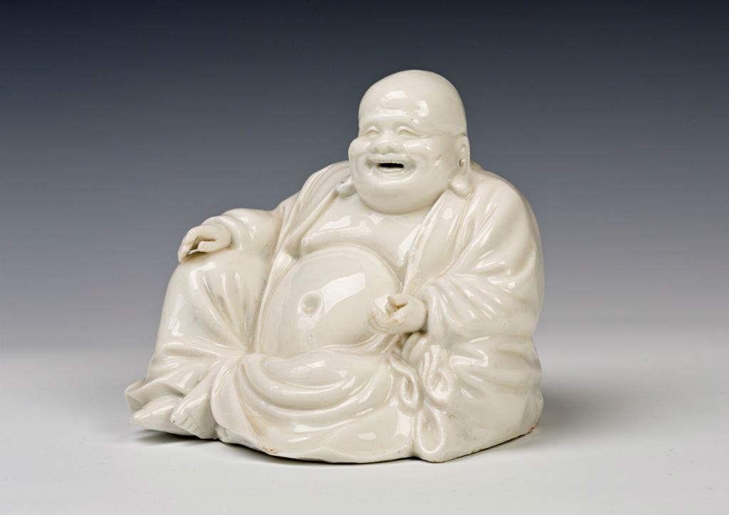 A Chinese figure of Budai, Kangxi (1662-1722).