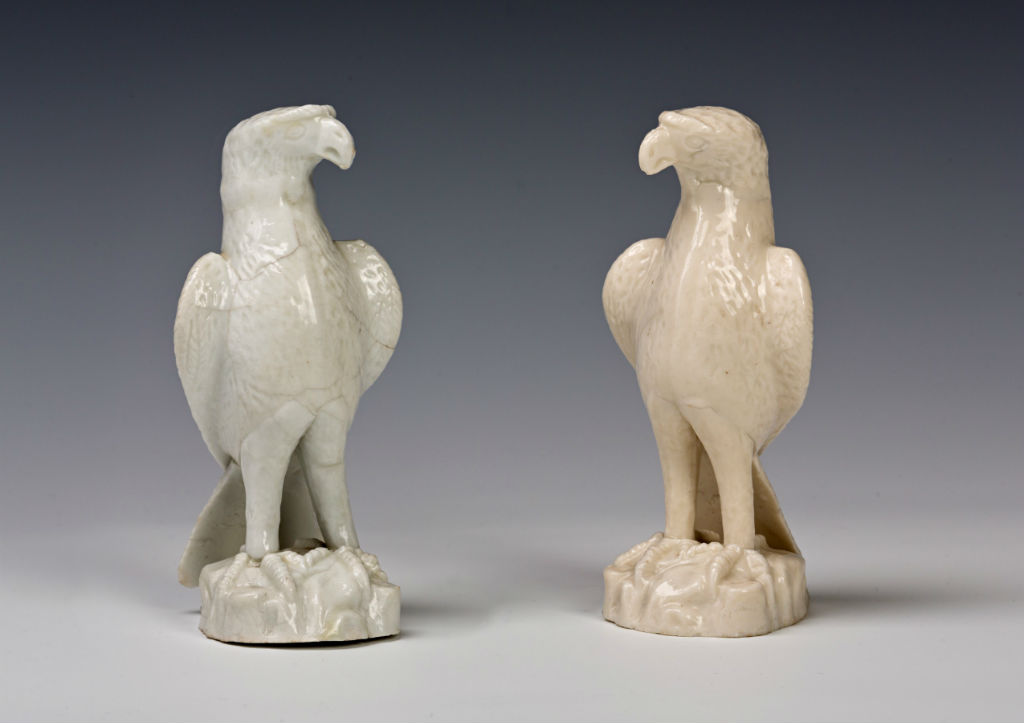 A set of four small figures of hawks, third quarter 17th Century.