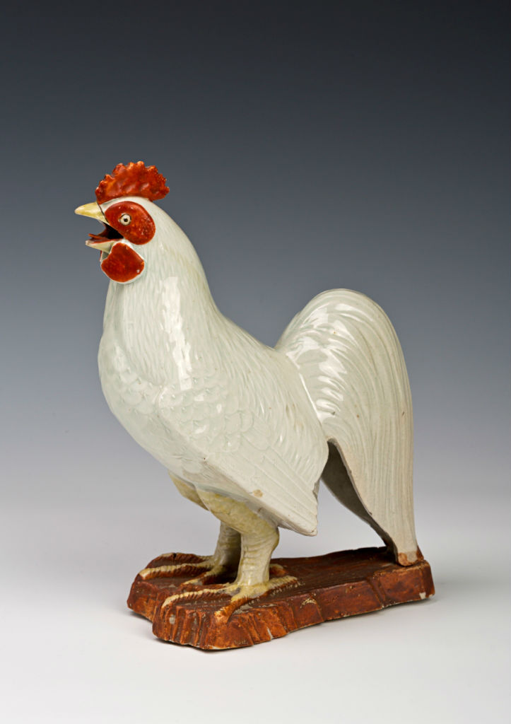 A figure of a cockerel, Japanese, late 17th Century.