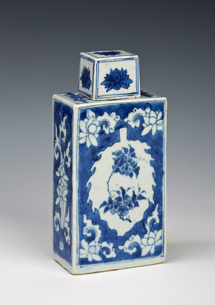 A pair of rectangular canisters and covers, Chinese, circa 1640.