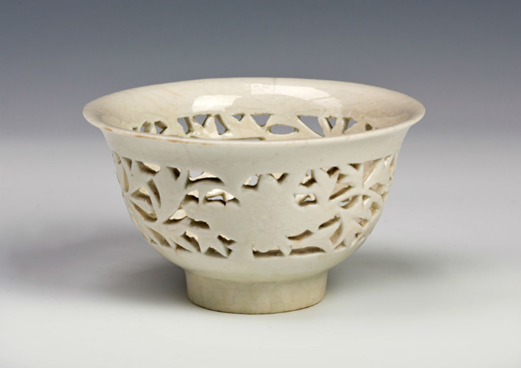 Two reticulated blanc-de-chine bowls, probably third quarter 17th Century.