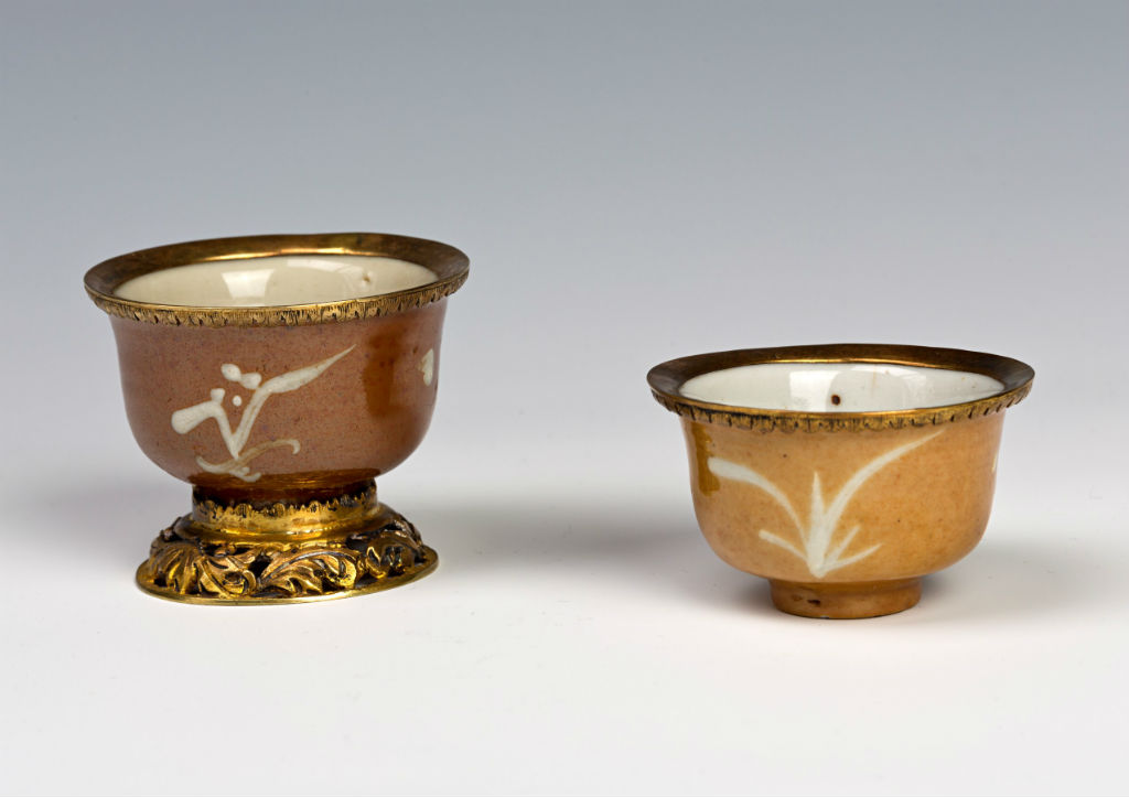 Two brown-glazed wine cups, Chinese, late Ming (1522-1644).