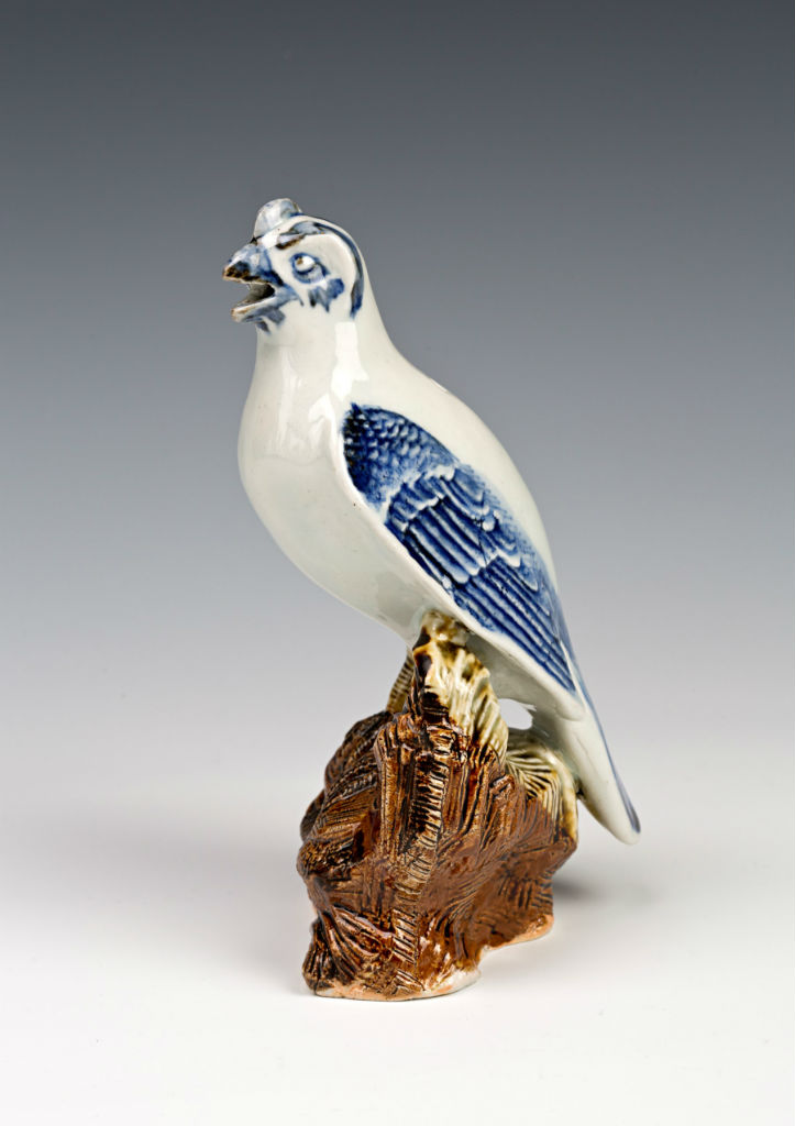 An Arita figure of a hawk, late 17th Century.