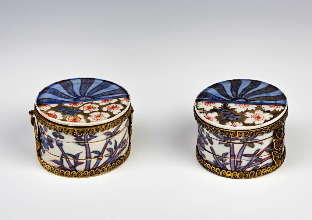 A pair of Imari kogo, mid-17th Century.