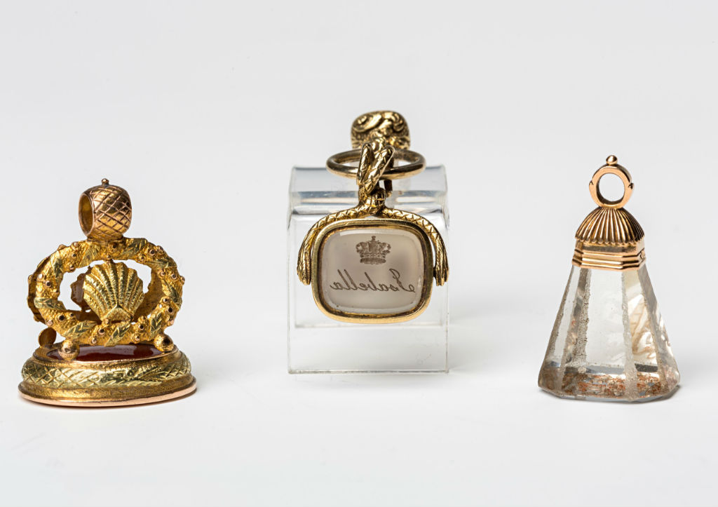 A group of four 19th Century fob seals.