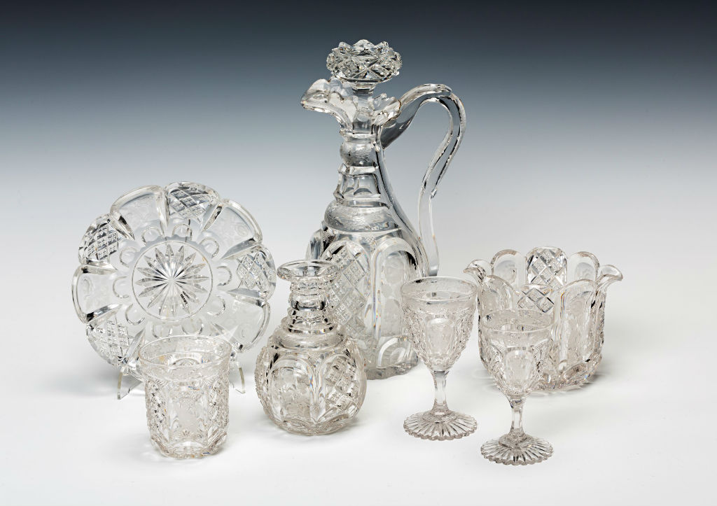 A suite of 19th Century glass, circa 1830-40.