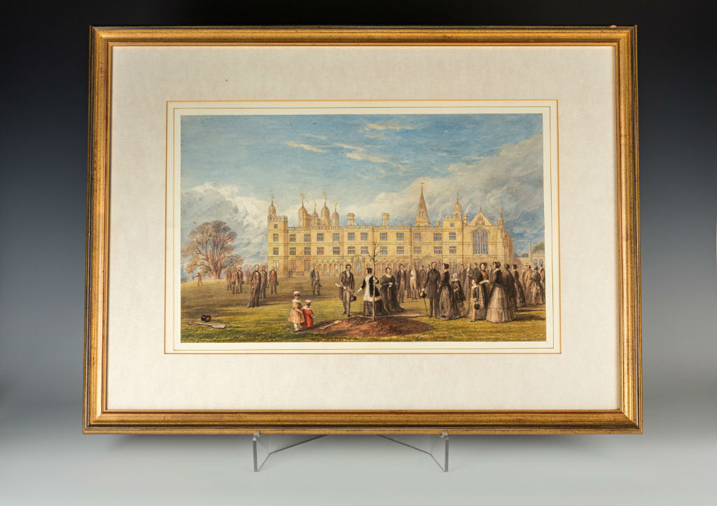 The Ceremonial Tree Planting at Burghley, signed H.B. Ziegler, 1844.