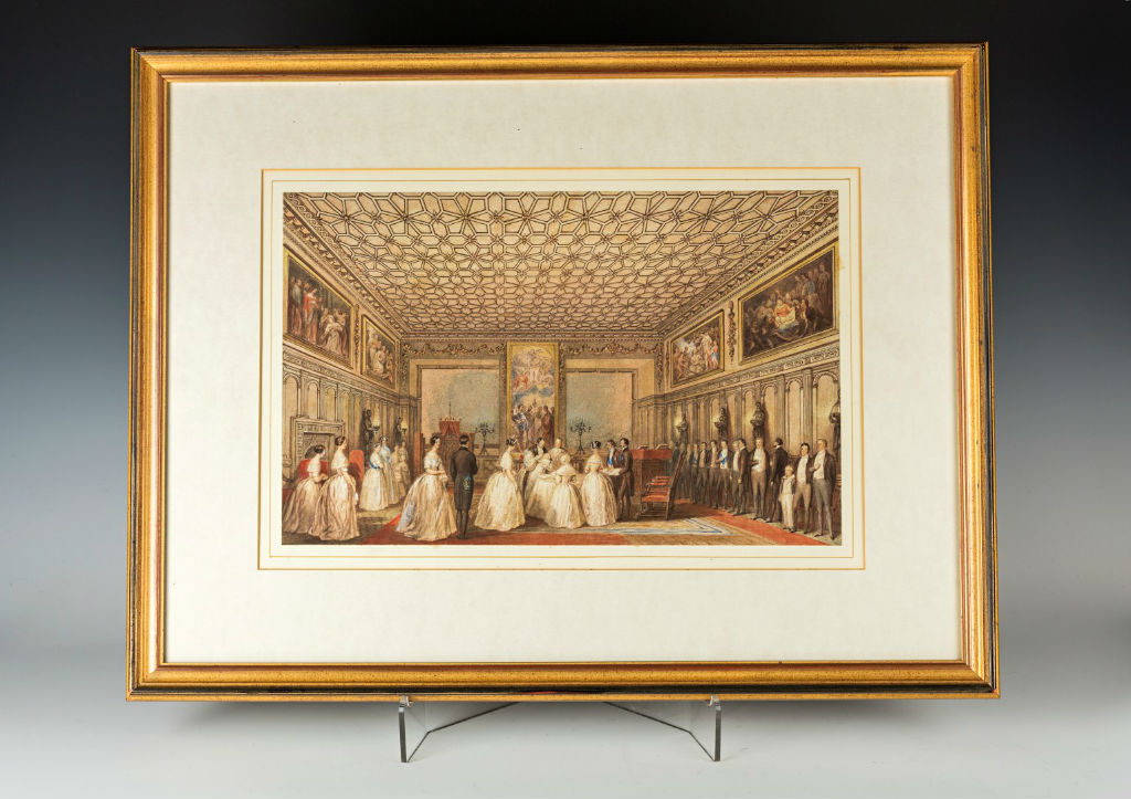 The Christening of Lady Victoria Cecil, signed B. Ziegler /1844.