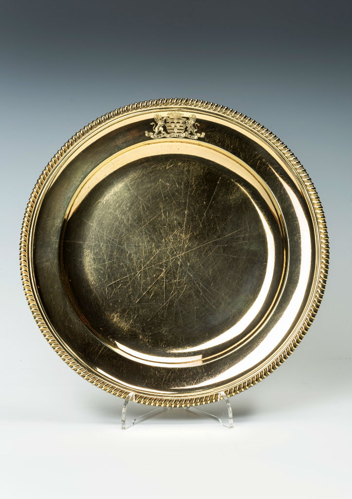 A set of eighteen silver-gilt dessert plates, mark of Robert Garrard, London, 1844.