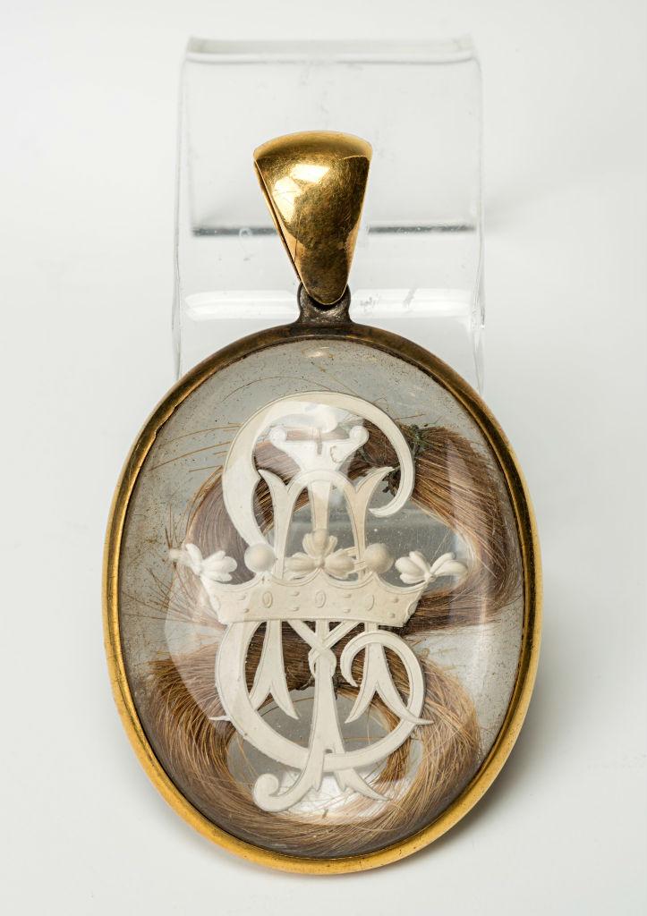 A Victorian memorial locket.