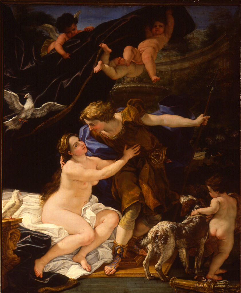 Venus and Adonis, Giovanni Battista Gaulli, Il Baciccio (1639-1709).