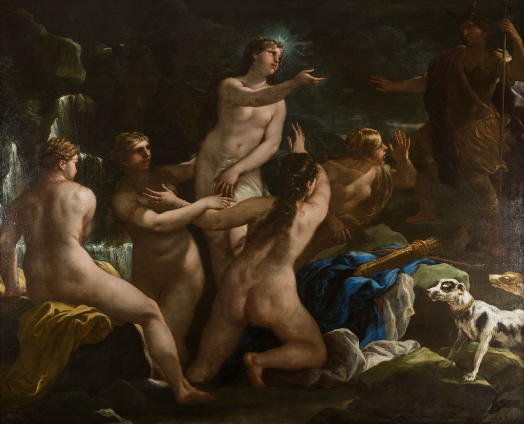 Diana and Actaeon, by Luca Giordano (1632-1706).