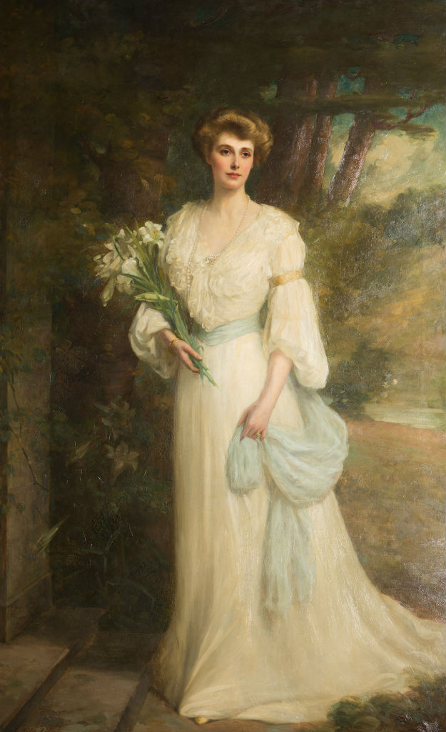 A Portrait of Myra, Marchioness of Exeter, by Ellis William Roberts (1860-1930).