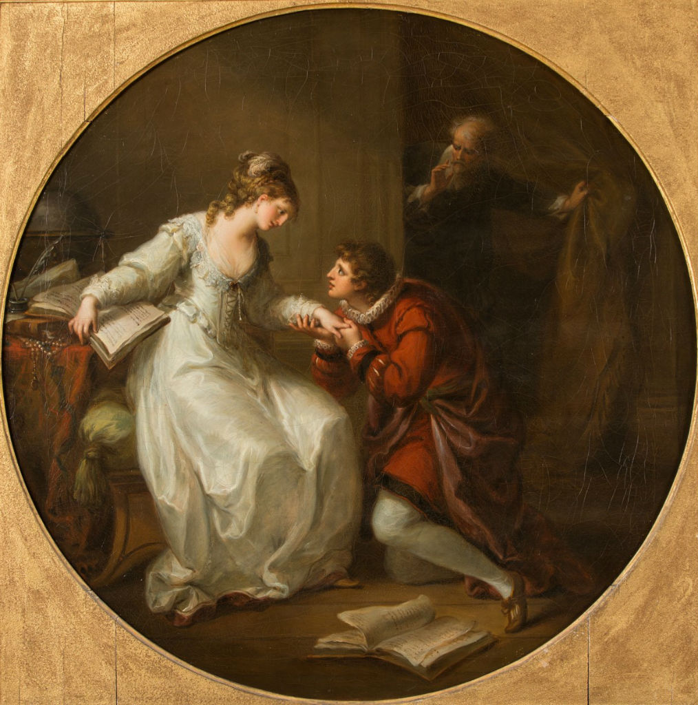 Abelard Soliciting the Hand of Eloise, by Angelica Kauffman, R.A. (1741-1807).