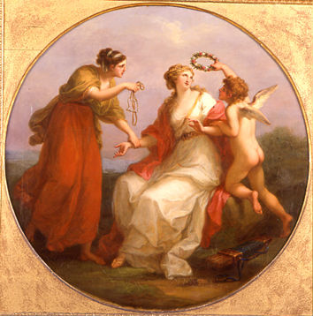 Beauty Governed by Prudence Crown'd by Virtuous Love by Angelica Kauffman, R.A. (1741-1807).