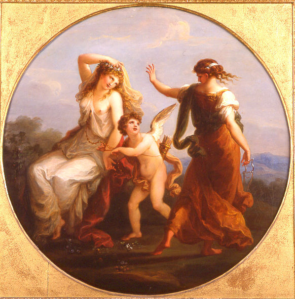 Love Conquering Prudence by Angelica Kauffman, R.A. (1741-1807).