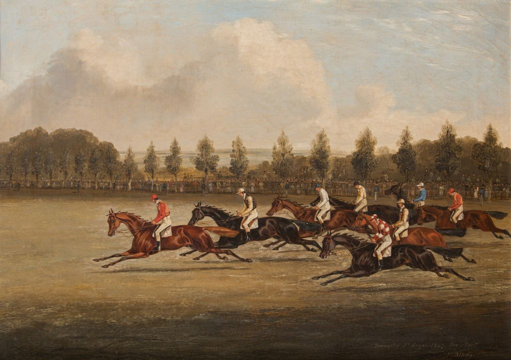 The Start of the Doncaster St. Leger, 1847, by Henry Thomas Alken (1785-1851).