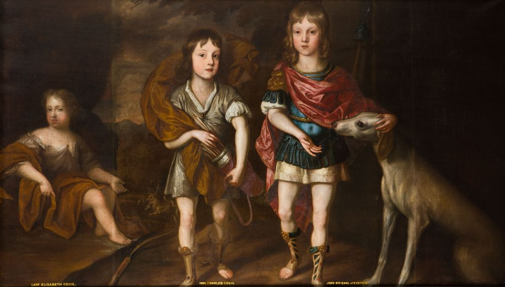 Portrait of John, later 6th Earl of Exeter, with his Brother, the Hon.William Cecil and his Sister, Lady Ann Cecil, by  Charles d'Agar (1669-1723).