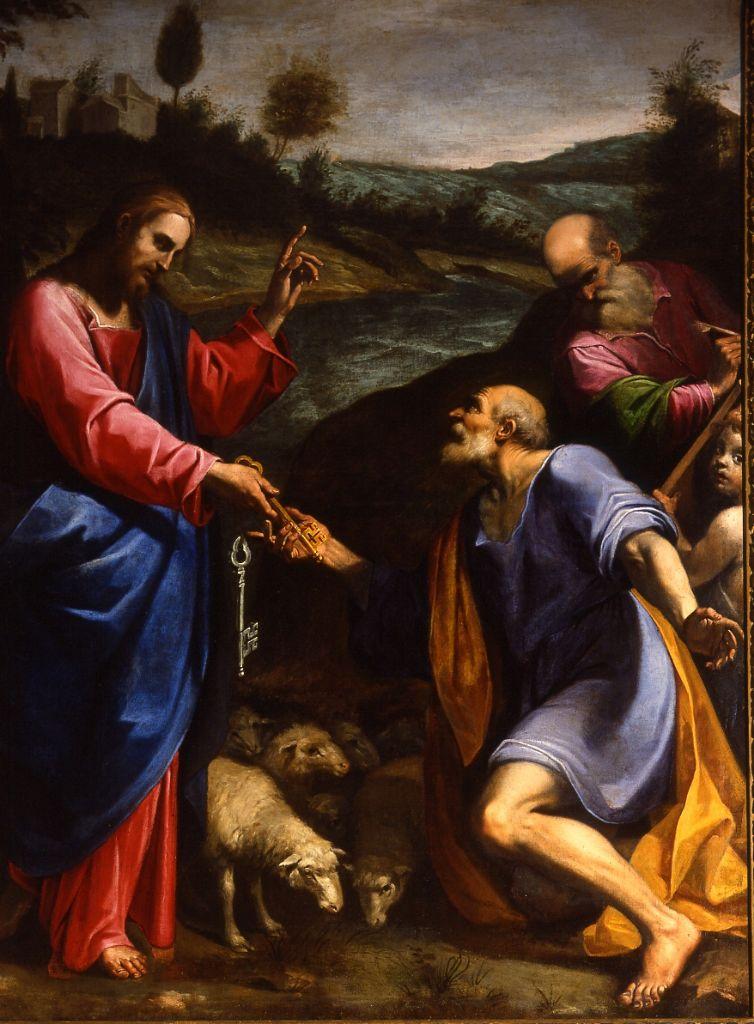 Christ calling Peter, by Girolamo Muziano (1528-1592).