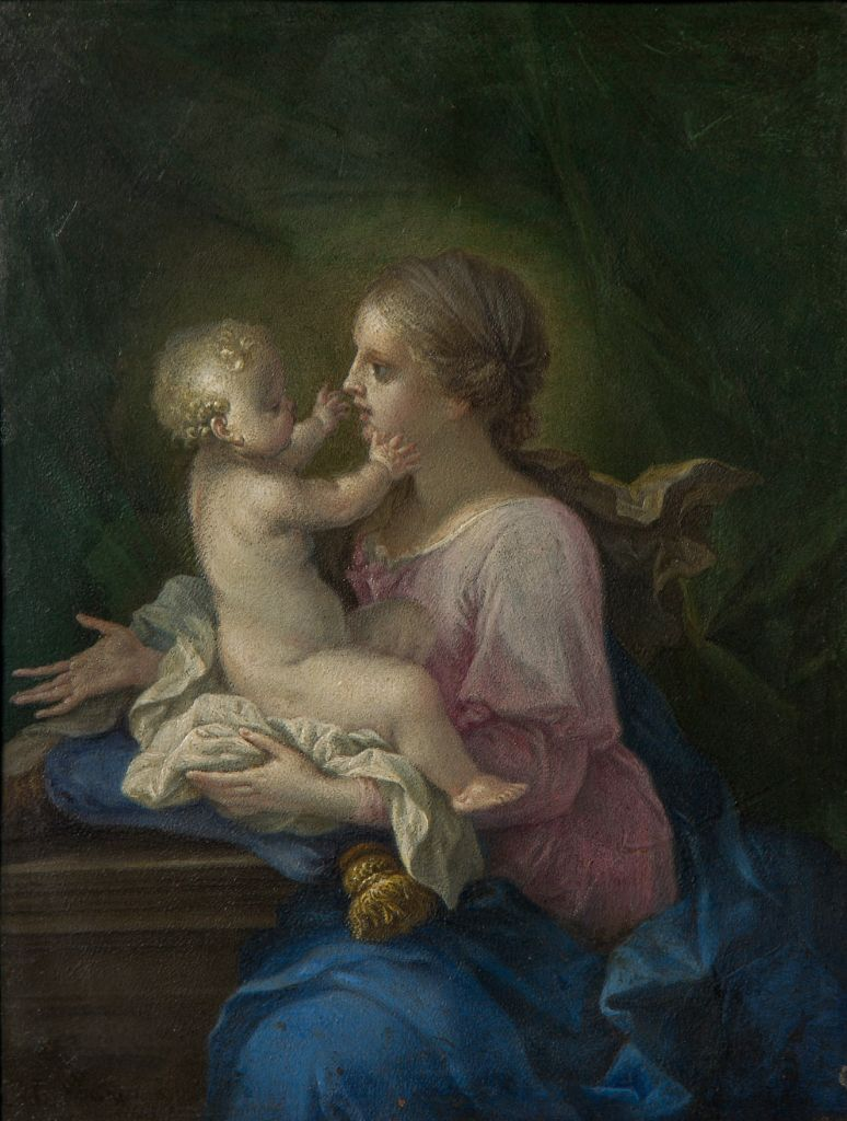 The Madonna and Child, by Filippo Lauri (1623-1694).
